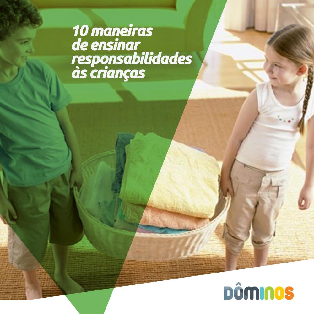10 maneiras de ensinar responsabilidades às crianças