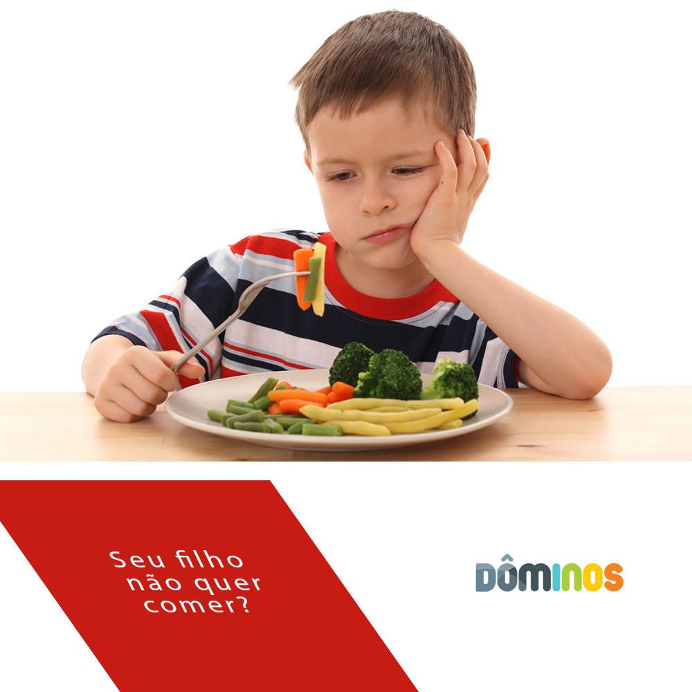 O que fazer quando a criança não quer comer