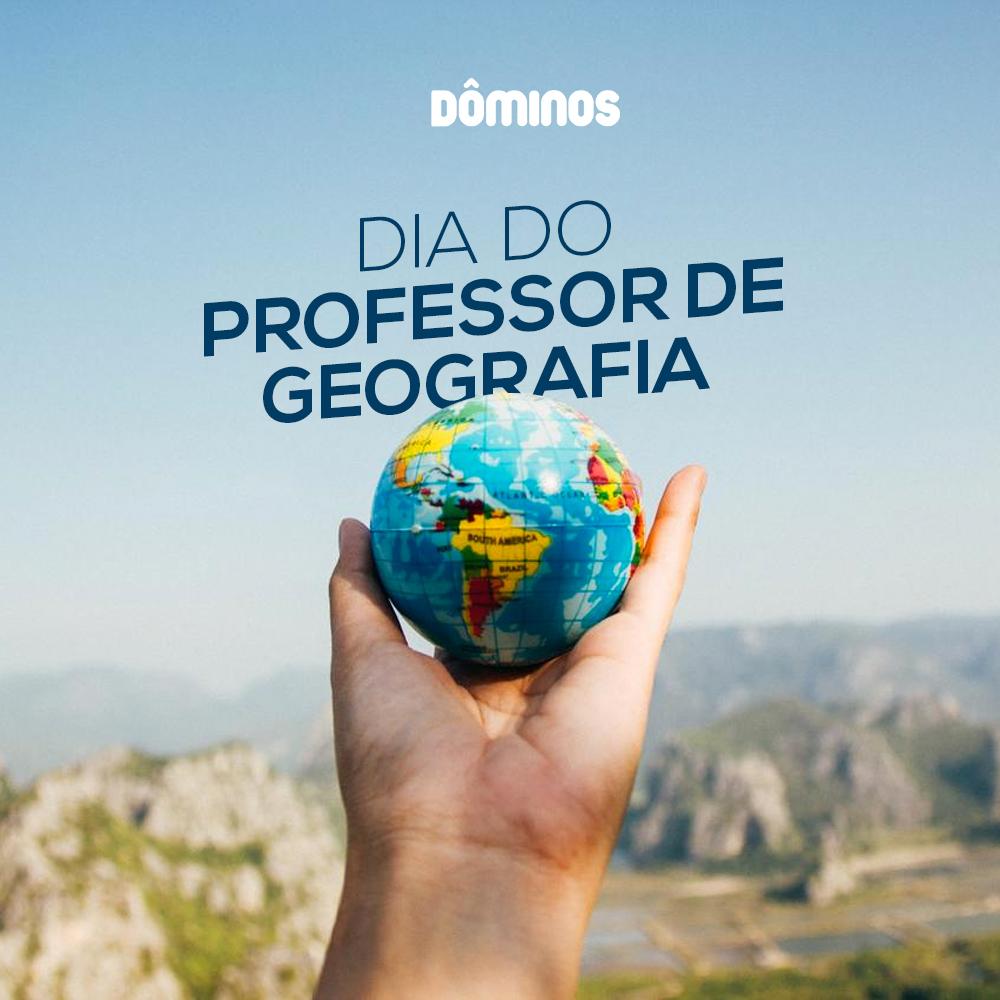 Geografia: Hoje é o comemorado o dia do professor dessa disciplina